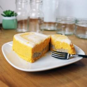 Pastel de boniato sin azúcar