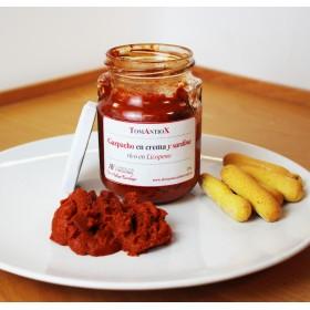 Gazpacho en crema y sardina